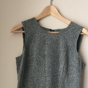 Vintage Gray and White Shift Dress